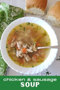 chicken and sausage soup