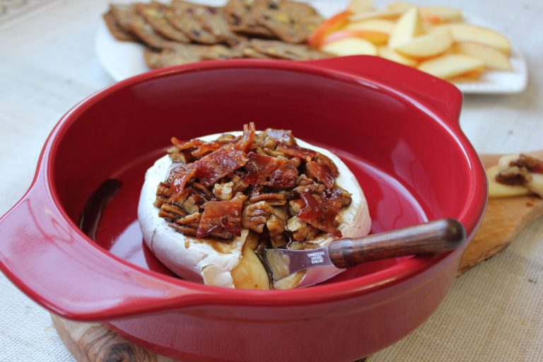Candied Bacon & Brown Sugar Baked Brie