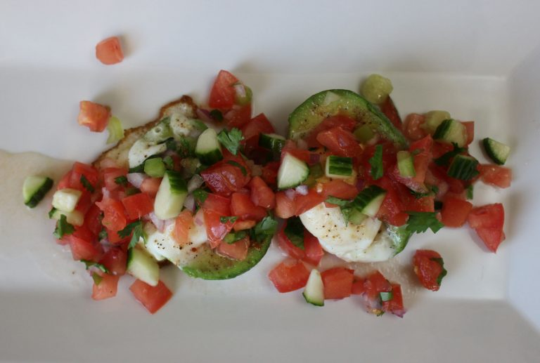 Eggs in Avocado with Fresh Salsa