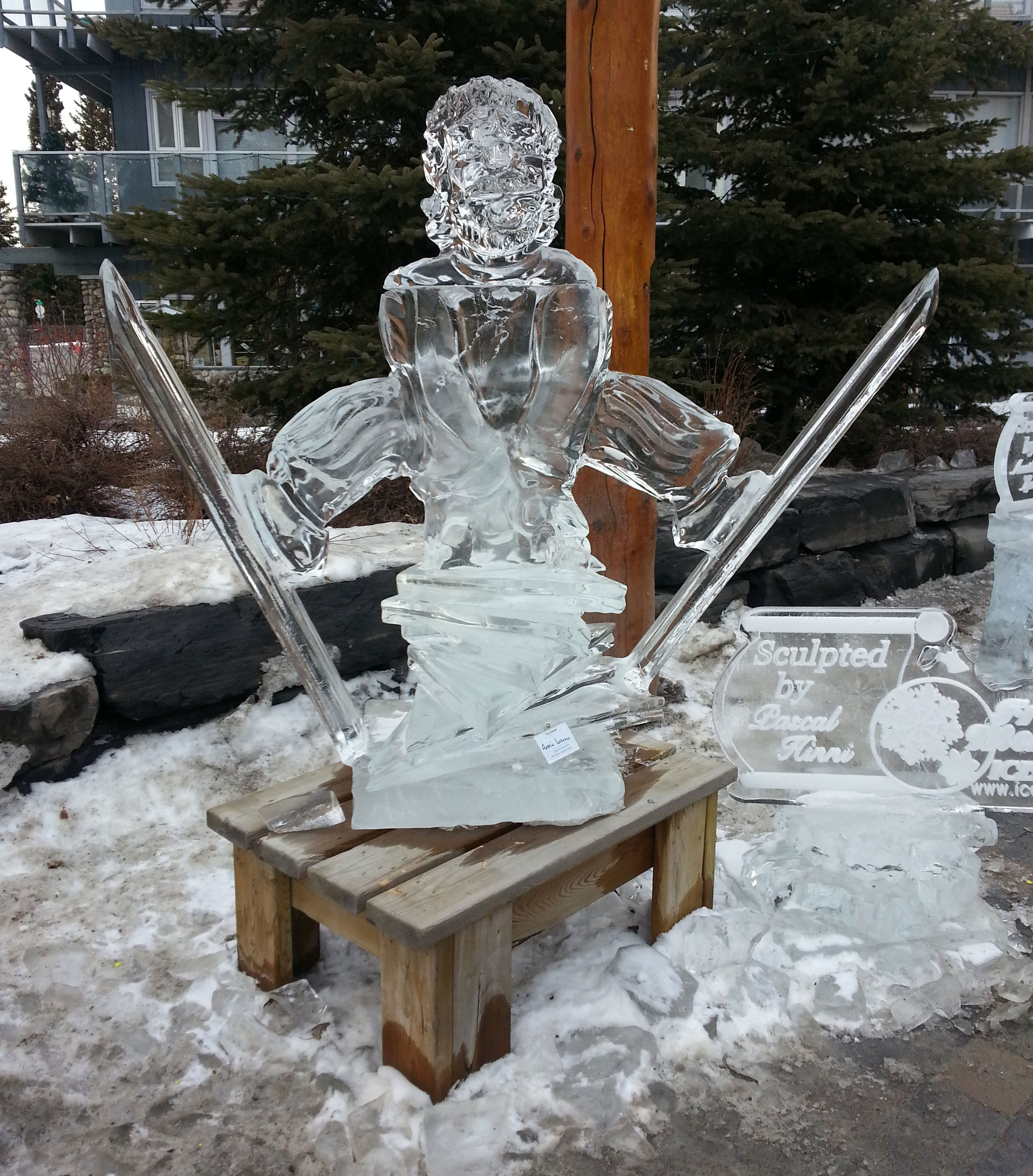Canmore Winter Festival Ice Sculptures