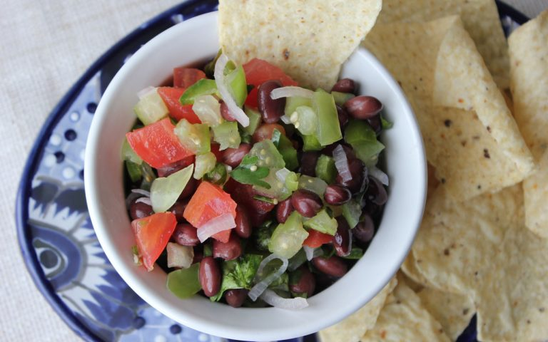 Tomatillo & Black Bean Salsa