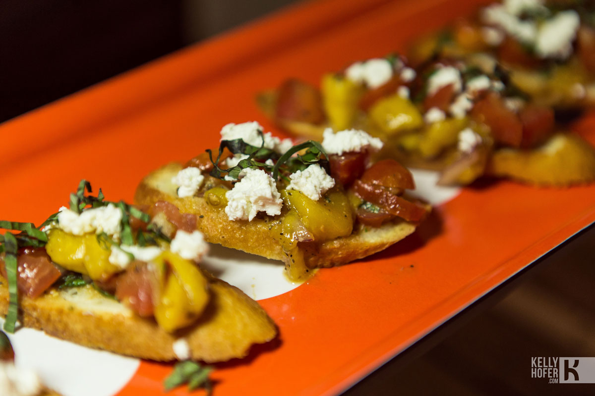 Mango Bruschetta, photo by Kelly Hofer