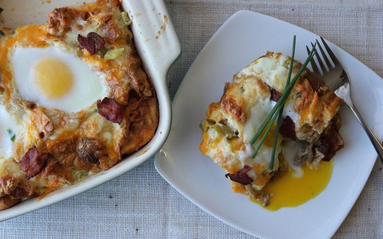 Roasted Garlic & Sausage Casserole