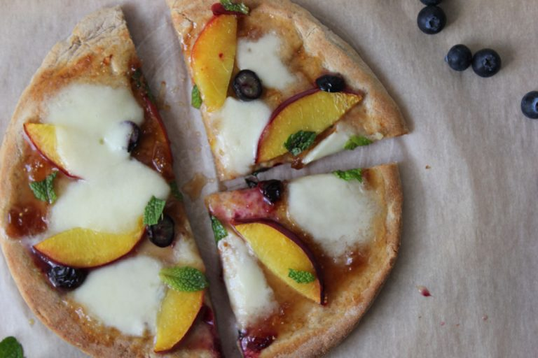 Peach and Bocconcini Pizza