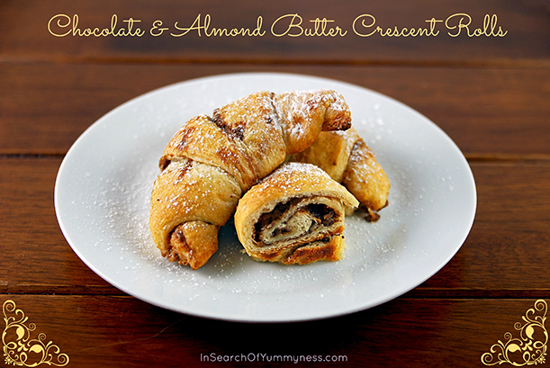 Chocolate Almond Butter Crescent Rolls