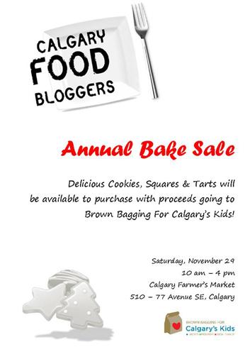 Calgary Food Bloggers Bake Sale 2014