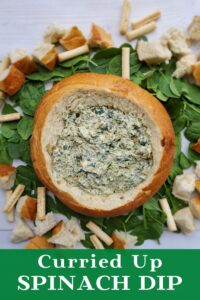 curried up spinach dip