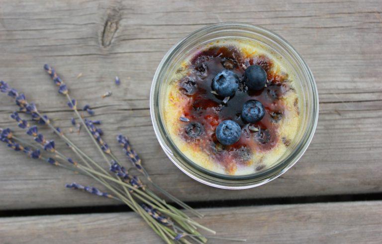Blueberry Lavender Creme Brulee