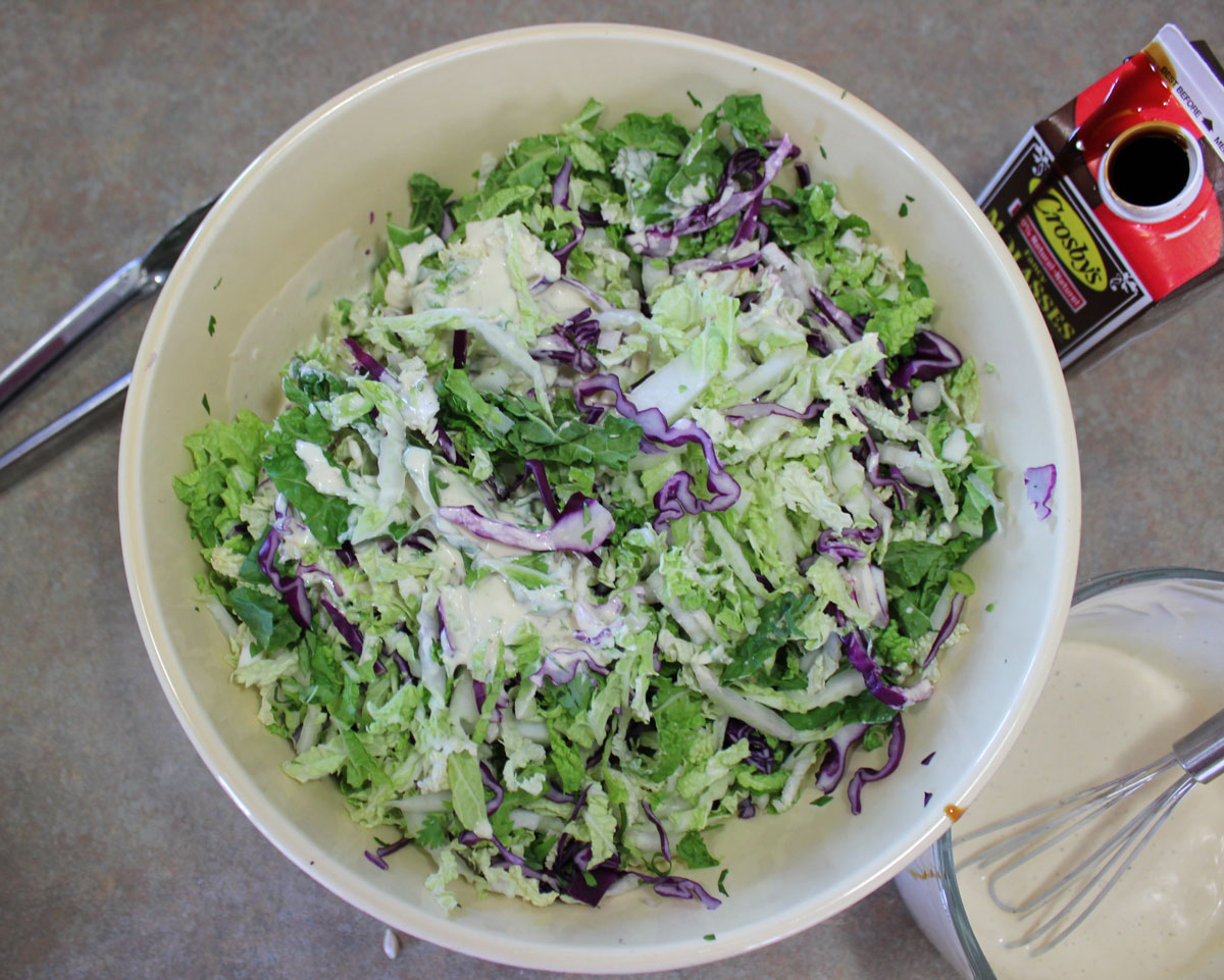 Crispy Molasses Coleslaw