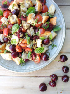 Panzanella Salad with BC Cherries