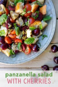 Panzanella Salad with Cherries