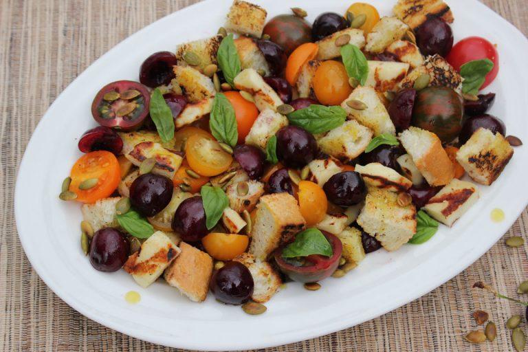Panzanella Salad with Summer Cherries