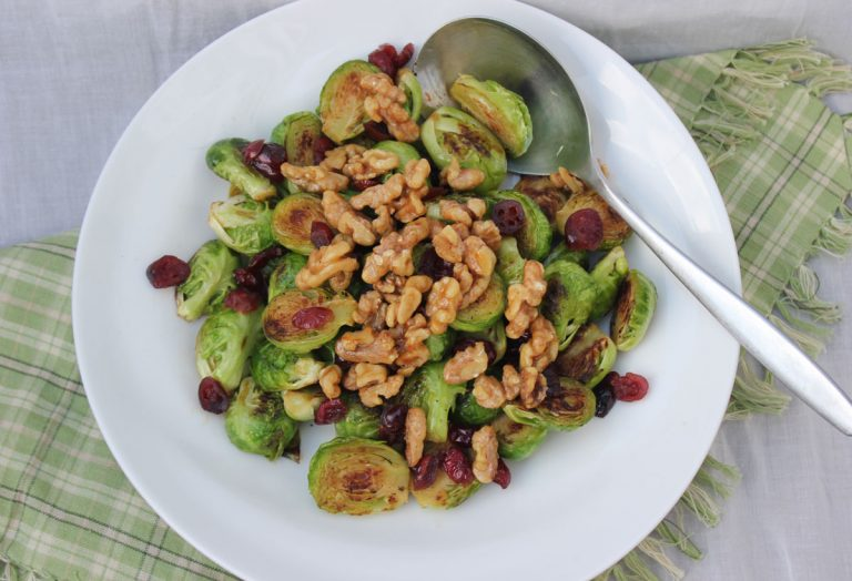 Brussels Sprouts with Candied Walnuts