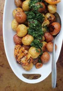 lemon potatoes with parsley pistou