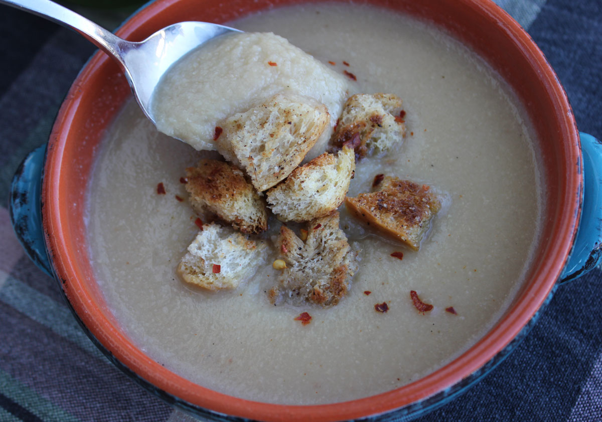 parmesan croutons roasted cauliflower cheddar soup cauliflower soup ...
