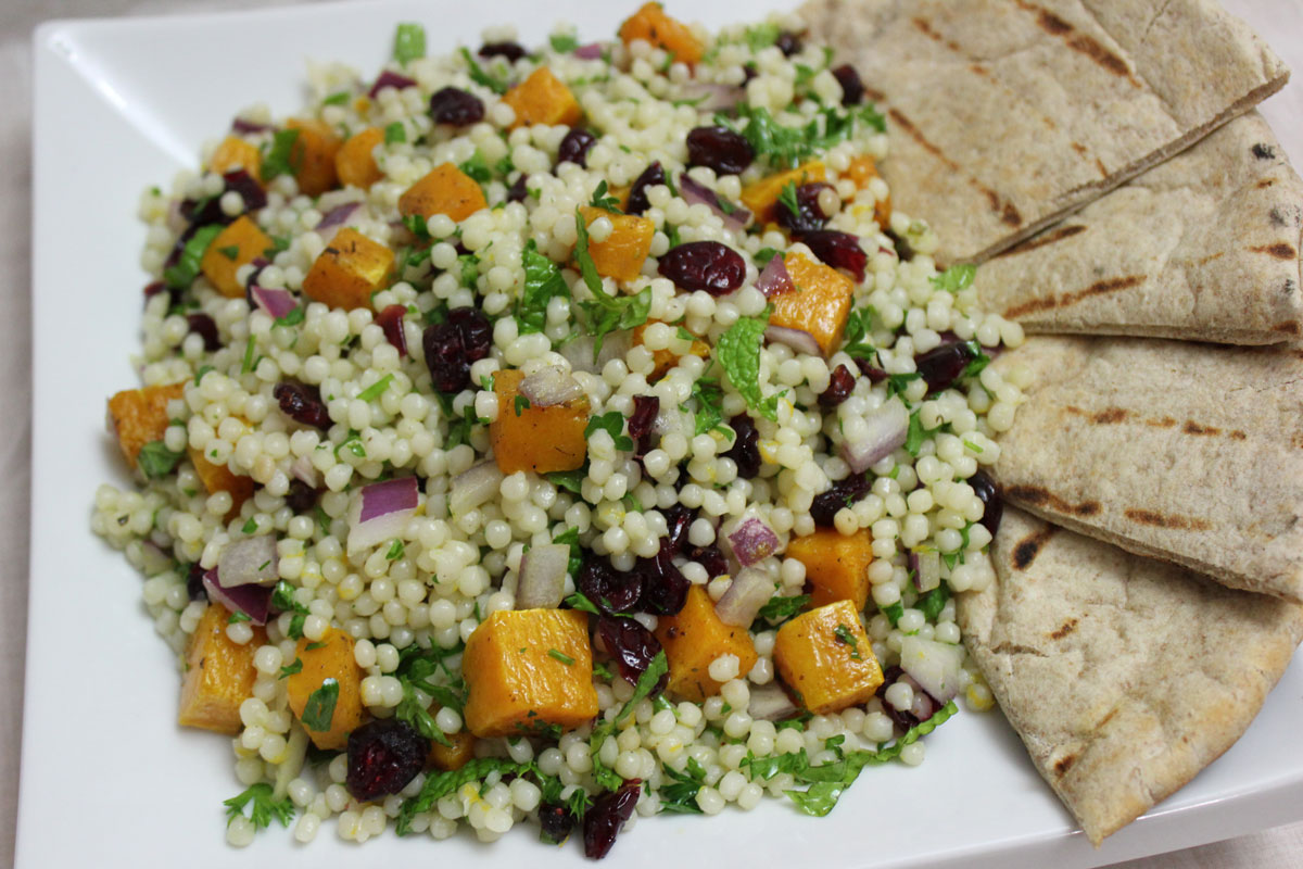 Israeli Couscous with Butternut Squash and Cranberries