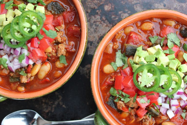 Roasted Poblano Turkey Chili