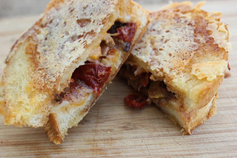 Gouda and Olive Tapenade Grilled Cheese