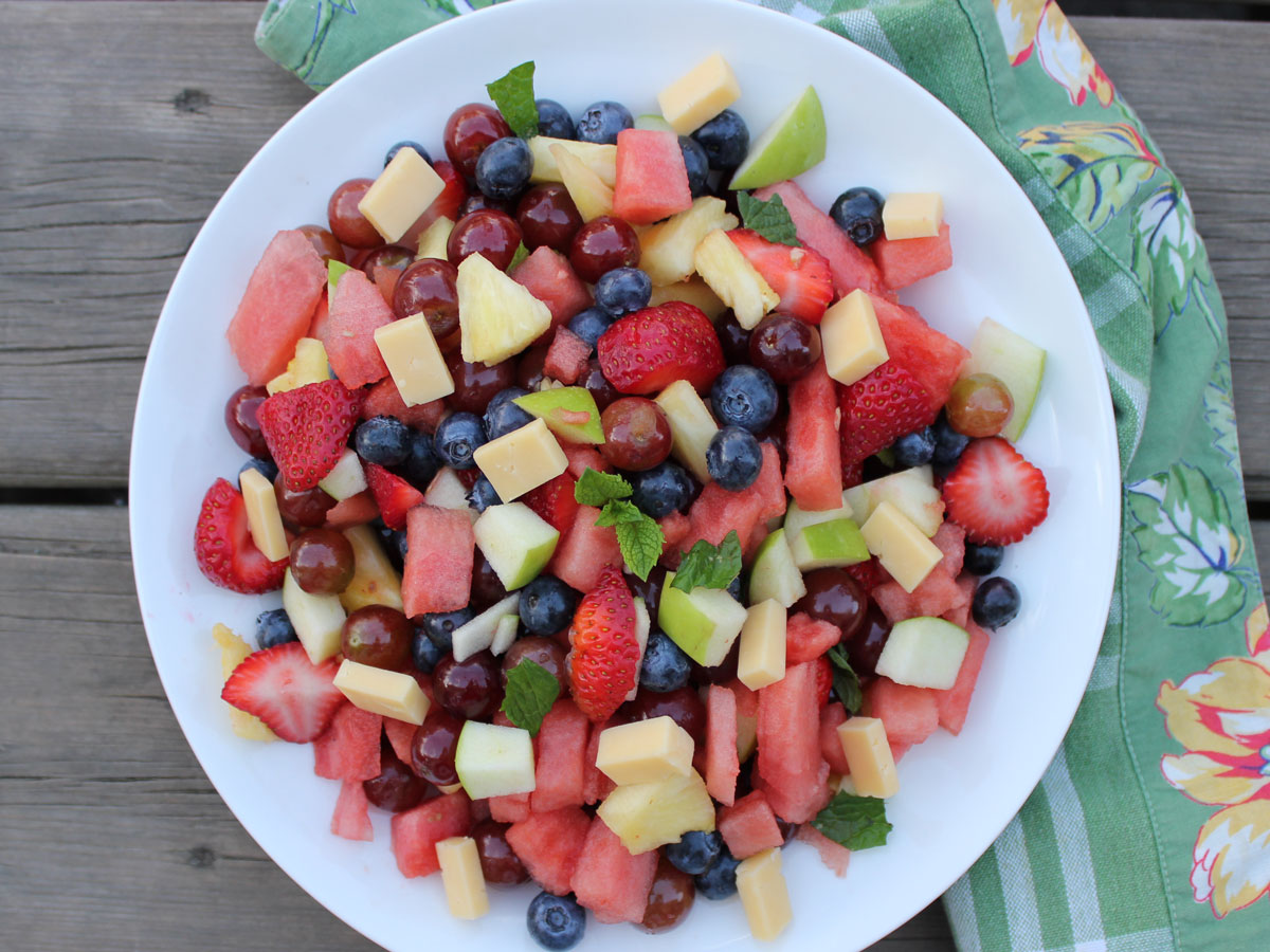 Aiden's Gouda Fruit Salad