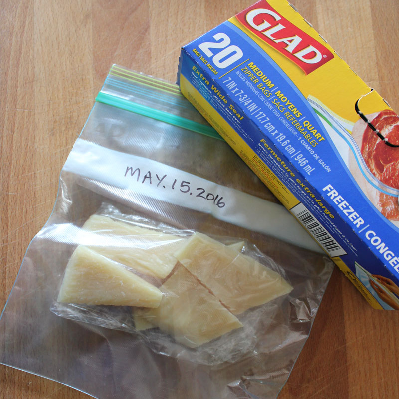 Wrap once with GLAD wrap and place in GLAD plastic freezer bag