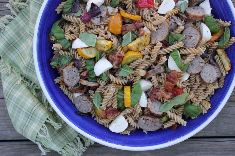 Italian Sausage, Zucchini and Bocconcini Pasta Salad