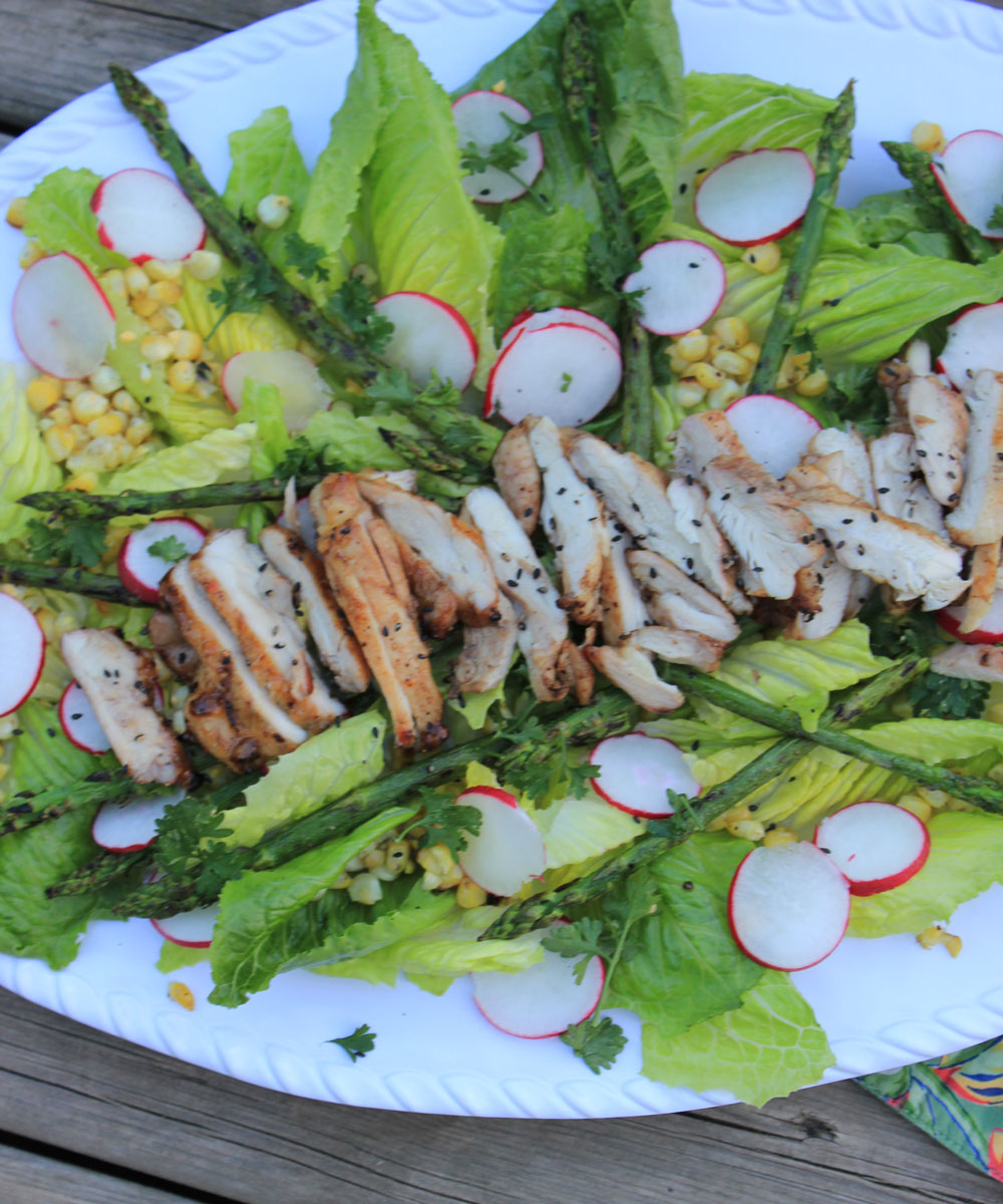 Sweet Red Chili Glazed Chicken with Salad - | Bakersbeans (Wanda Baker ...