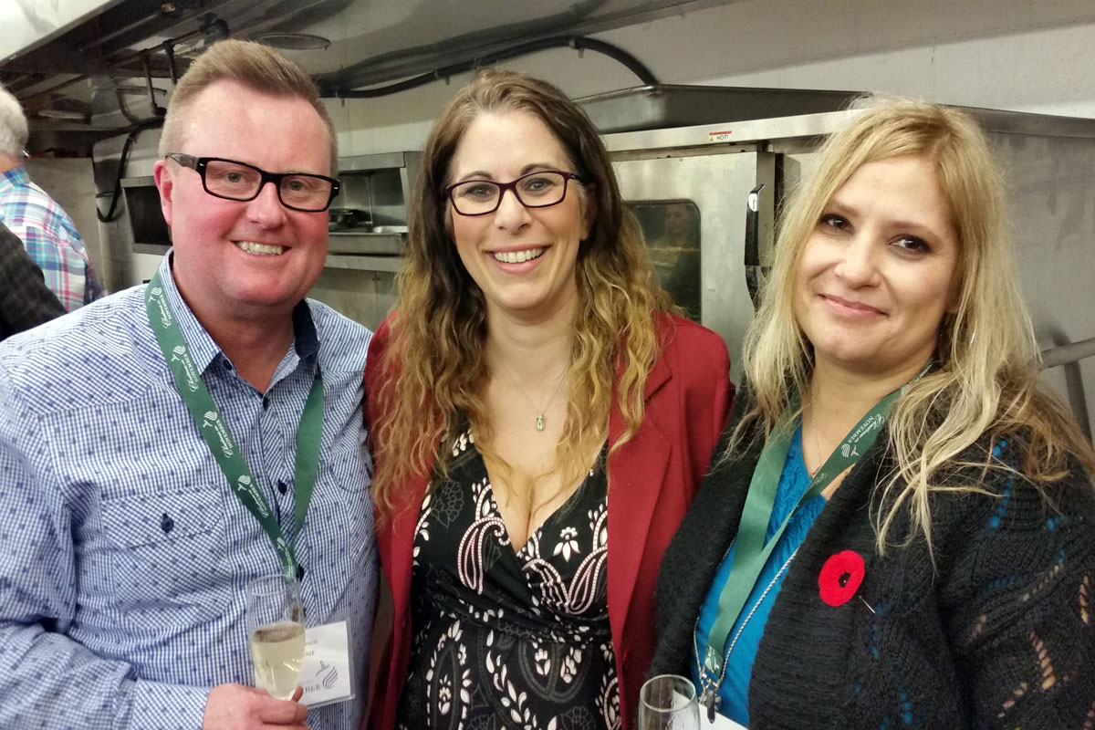 Chef Jan Hansen, Emily Richards and me