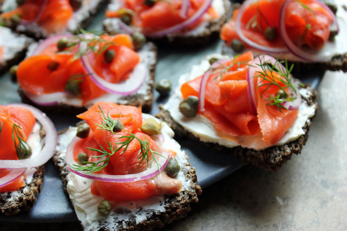 Smoked Salmon on Pumpernickel Rye