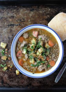 Sausage and Lentil Stew