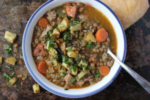 Sausage & Lentil Soup