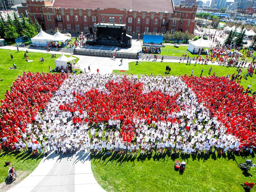 Photo Credit of Canada Day Flag: Calgary Herald