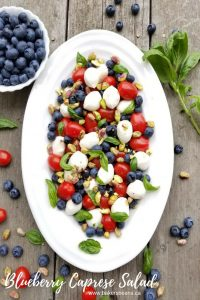 Blueberry Caprese Salad is a twist on a traditiona caprese salad