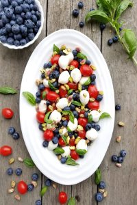 Blueberry Caprese Salad is a blueberry twist on a traditional caprese salad