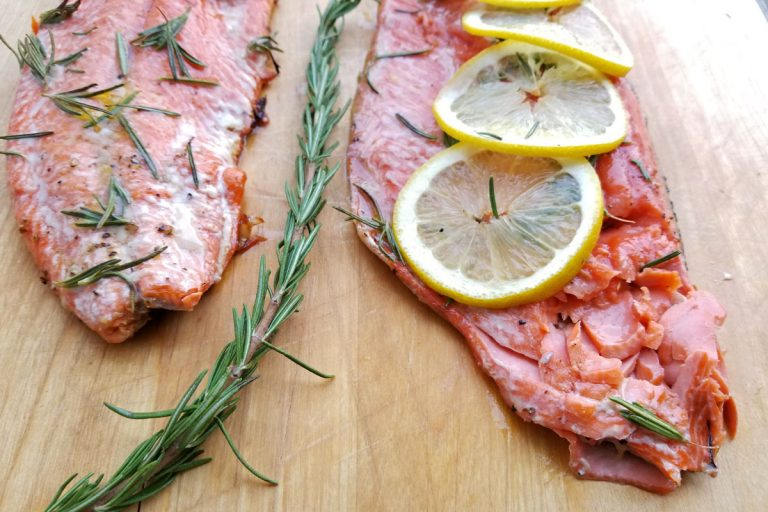 Salmon with Maple Syrup & Rosemary