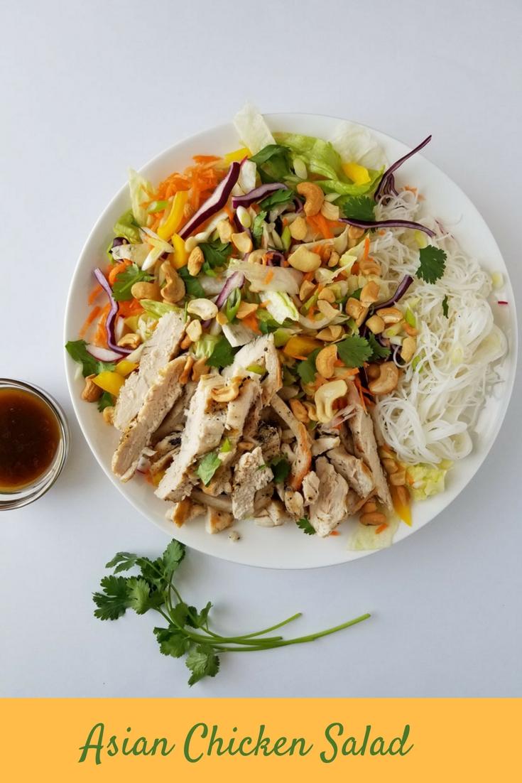 Asian Chicken Salad #asianfood #asianchickensalad #chicken #chickensalad #chickensalad #vermicillinoodles #salad #easysalad