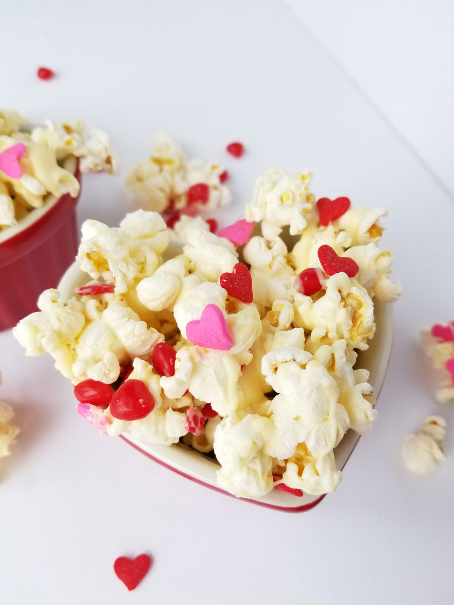 Cinnamon Heart Popcorn Crunch