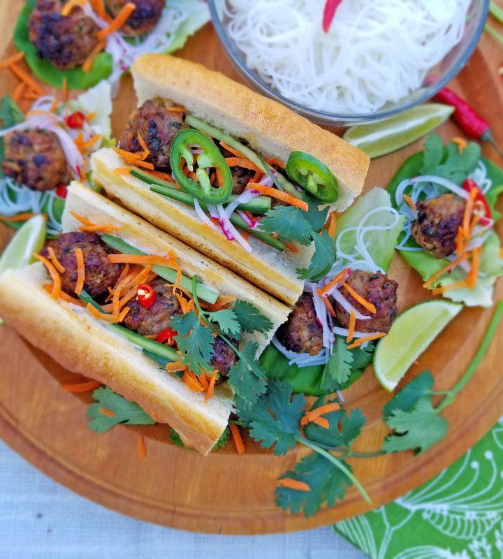 Pork Meatball Banh Mi