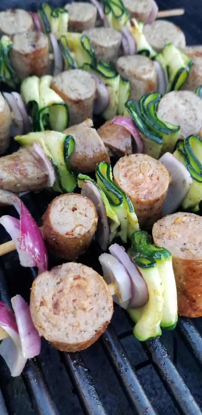 Grilled Sausage Skewers