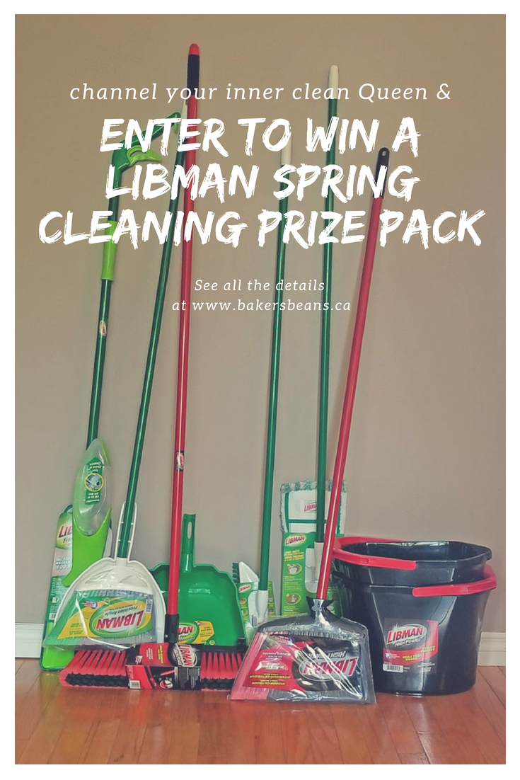 Enter to WIN a Libman Spring Cleaning Prize Pack. Open to Canadian Residents 18+ years of age. #Canada #Contest #CanadianGiveaway