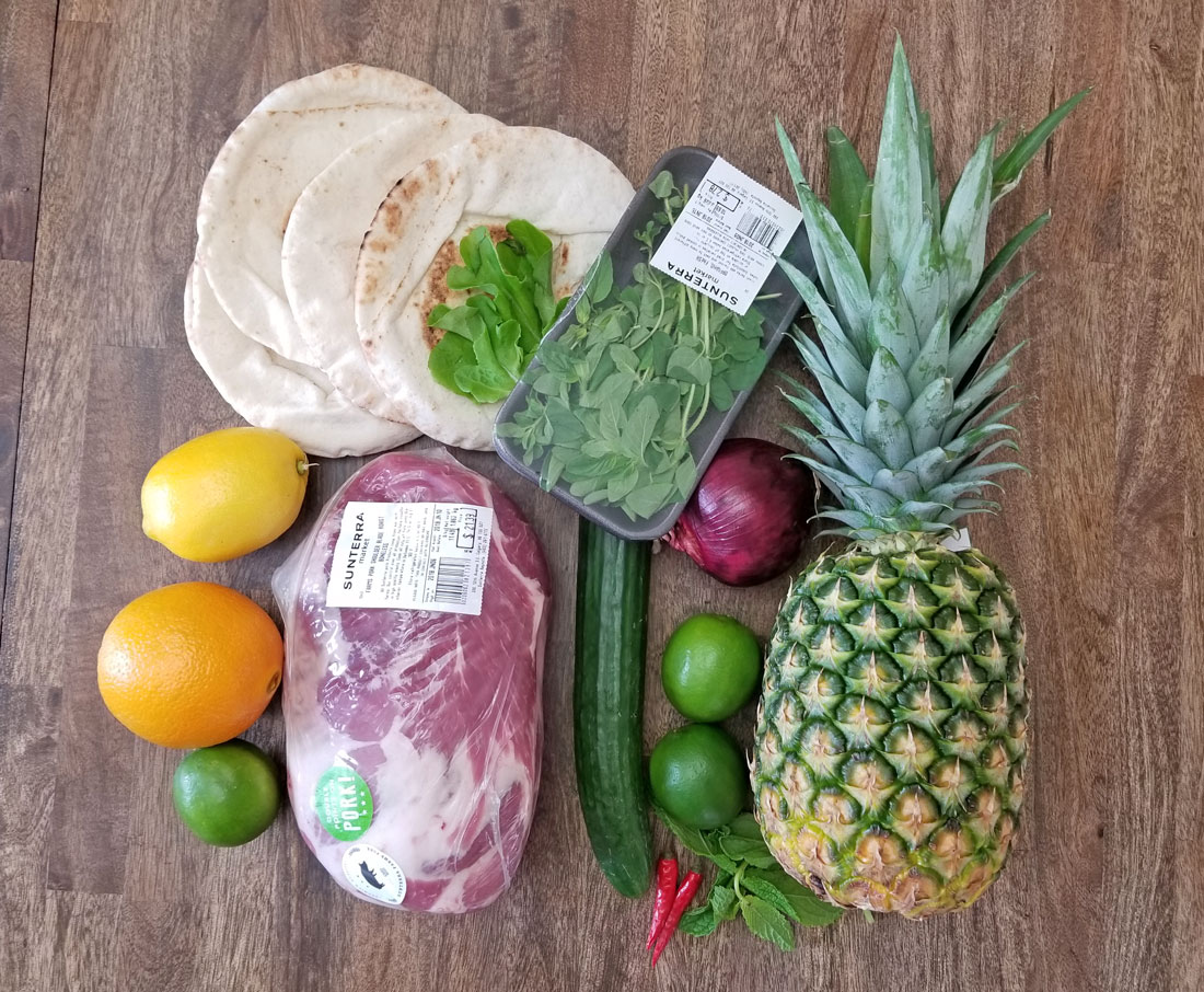 Ingredients for Pork Souvlaki