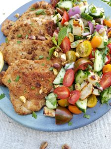 Quick and easy Pork Schnitzel using Sunterra Farms Pork