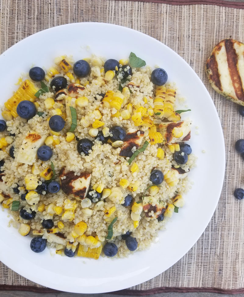 Blueberry Halloumi Quinoa Salad
