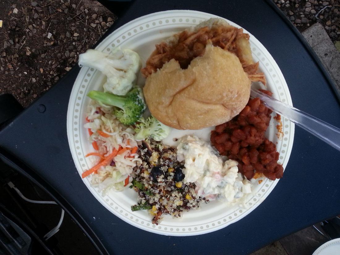 Blueberry Halloumi Quinoa Salad camping