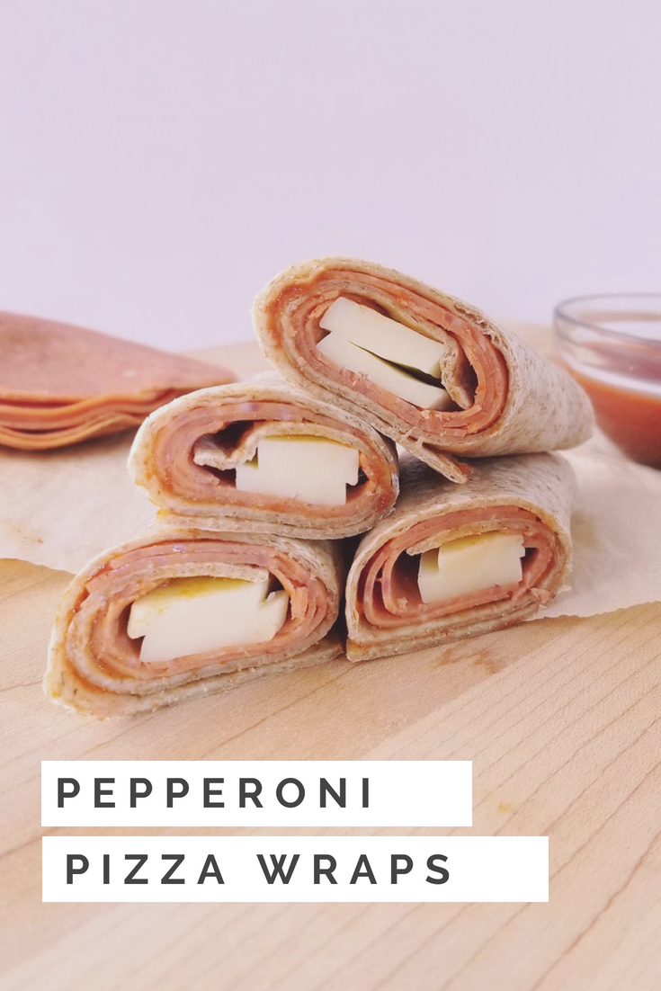 Pepperoni Pizza Wraps #backtoschool #wraps #lunches #schoollunches