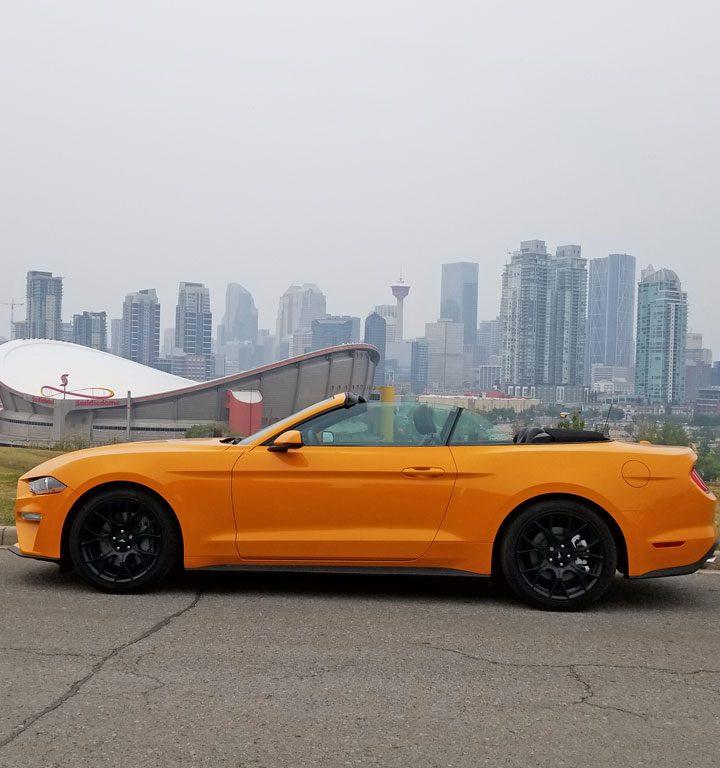 Ford Convertible Mustang & Calgary Skyline