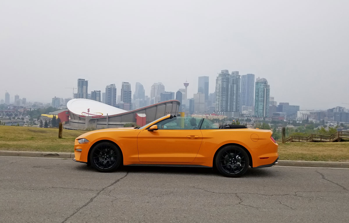 Ford Convertible Mustang & Calgary Skyline