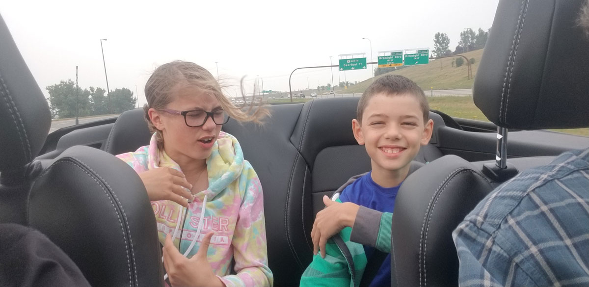 Driving the Deerfoot with the top down
