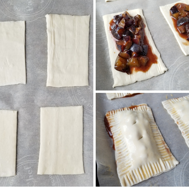 Plum Hand Pie Preparation