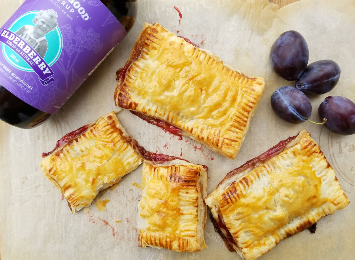 Plum Hand Pies made using Elderberry Syrup