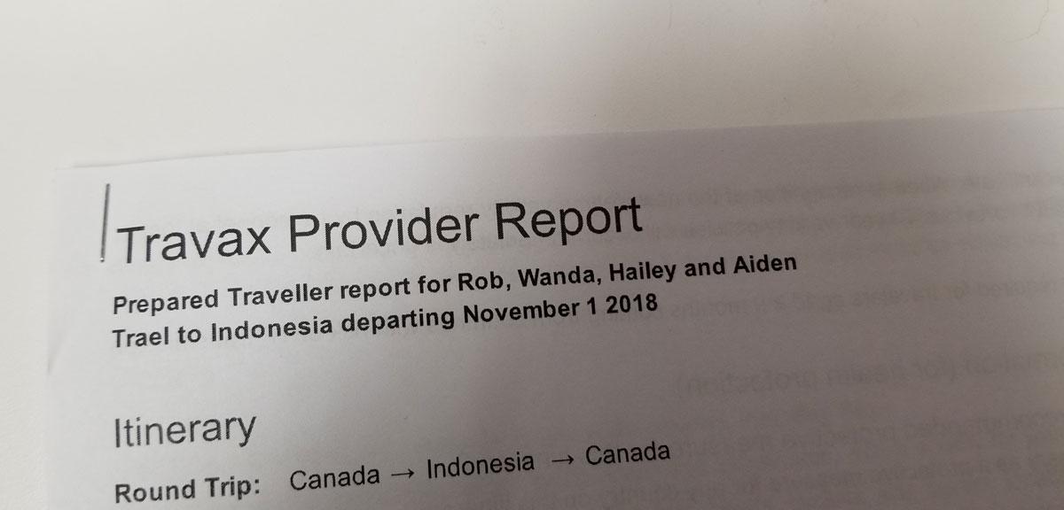 Traveller Report